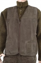 Shearling vest - merino leather